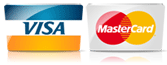 We accept VISA & MASTERCARDS
