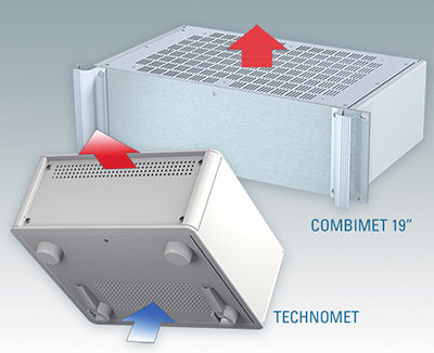 Ventilated electronic enclosures