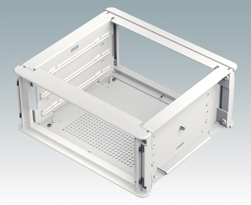 Internal chassis with accessory guides for slide-in PCBs